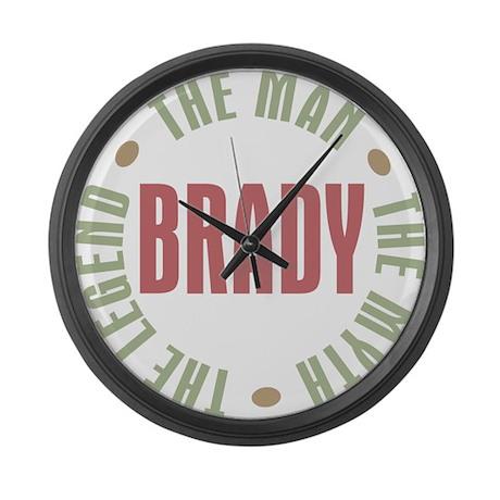 Brady Man Myth Legend Large Wall Clock