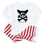 Pirate Corgi Skull Baby Pajamas