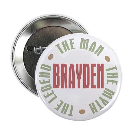 """Brayden Man Myth Legend 2.25"""" Button (10 pack)"""