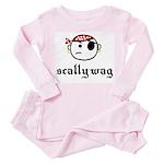 scallywag (with graphic) Toddler Pink Pajamas