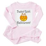 Twins First Halloween Toddler Pink Pajamas