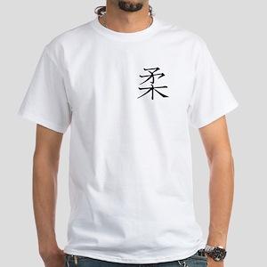Budo White T-Shirt kanji Black
