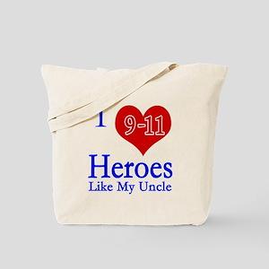 I love (heart) 9-11 Heroes Tote Bag