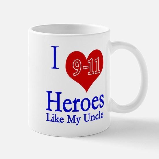 I love (heart) 9-11 Heroes Mug
