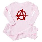 Anarchy Symbol Baby Pajamas
