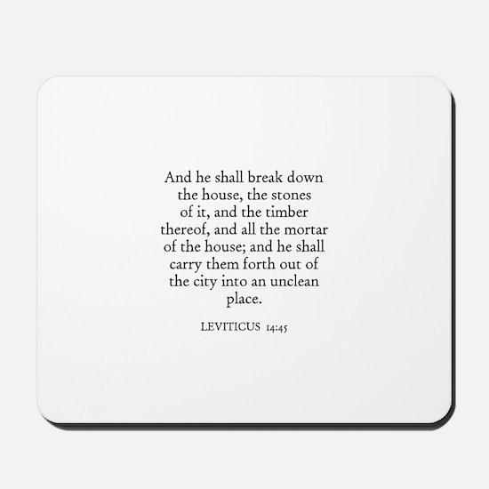 LEVITICUS  14:45 Mousepad