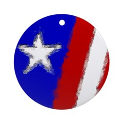 American Flag Christmas Ornament (Round)