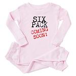 Six Pack Coming Soon Baby Pajamas