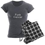 Fuck Cancer Women's Charcoal Pajamas