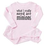 I Need Minions Baby Pajamas