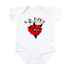 Old Skool U.S. Navy Devil Infant Bodysuit