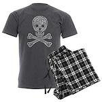 Celtic Skull and Crossbones Men's Charcoal Pajamas