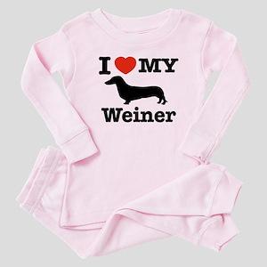 161ff991e I Love My Weiner Baby Pajamas - CafePress