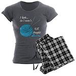 I knit Women's Charcoal Pajamas