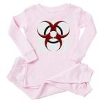 3D Biohazard Symbol Baby Pajamas