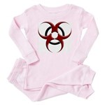 3D Biohazard Symbol Infant Bodysuit