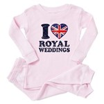 I Love Royal Weddings Baby Pajamas