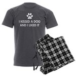 I kissed a dog and I liked it Men's Charcoal Pajam