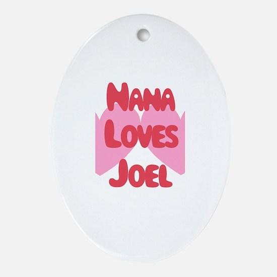 Papa Loves Joel Oval Ornament