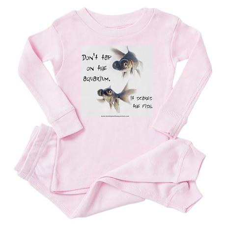 Don't Tap on the Aquarium Poker Baby Pajamas