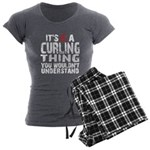 Curling Thing Women's Charcoal Pajamas