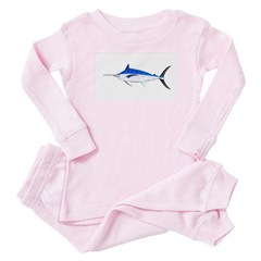 Blue Marlin fish Baby Pajamas