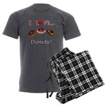 I Love Donuts Men's Charcoal Pajamas