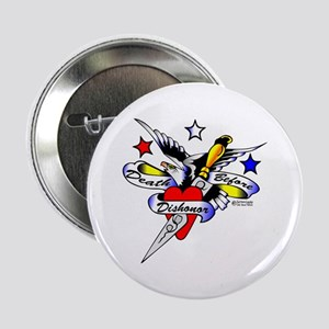 "Old Skool Eagle Dagger Heart 2.25"" Button"
