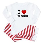 I Love Two Harbors Baby Pajamas