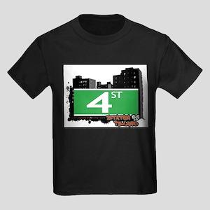 4 STREET, STATEN ISLAND, NYC Kids Dark T-Shirt