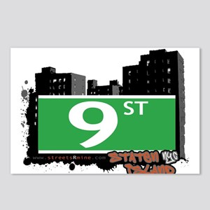 9 STREET, STATEN ISLAND, NYC Postcards (Package of