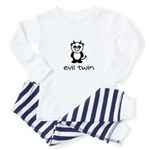 evil twin (panda design) Baby Pajamas