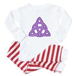 Purple Triquetra Baby Pajamas