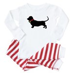 Christmas or Holiday Basset Hound Silhouette Infan