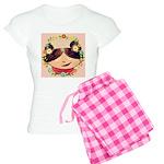 Fern Pink Checkerboard Pj's Pajamas