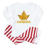 Canada Souvenir Varsity Baby Pajamas