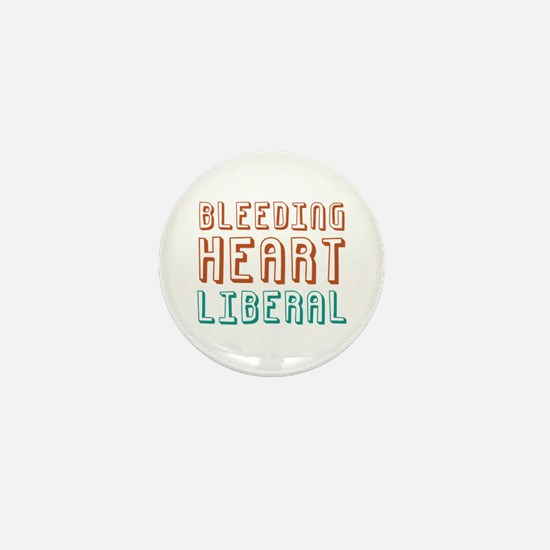 Bleeding Heart Liberal Mini Button