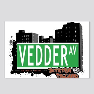 VEDDER AVENUE, STATEN ISLAND, NYC Postcards (Packa