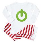 Power Button Baby Pajamas