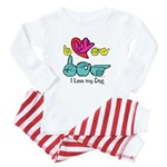 I-L-Y My Dog Baby Pajamas