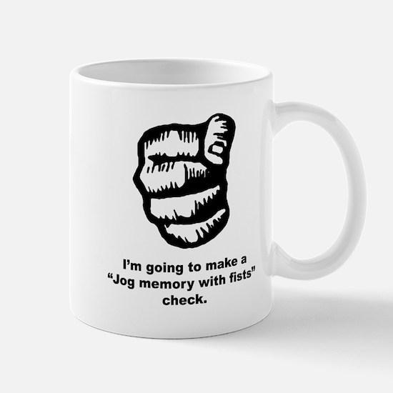 Jog Memory with fists Mug