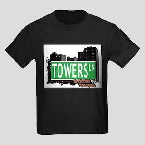 TOWERS LANE, STATEN ISLAND, NYC Kids Dark T-Shirt
