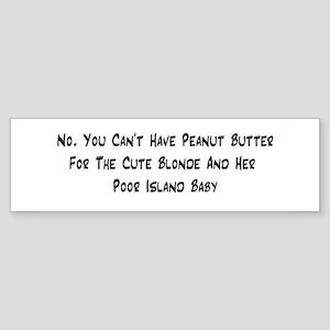 Peanut Butter Bumper Sticker