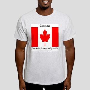 CanadaFranceColder Ash Grey T-Shirt