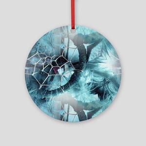 Web Of Dreams Round Ornament