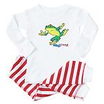 ASL Frog in Flight Baby Pajamas