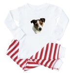 Jack Russell Watercolor Baby Pajamas