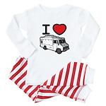 I Love Food Trucks! Baby Pajamas