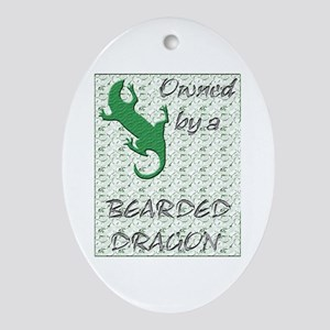Bearded Dragon Oval Ornament