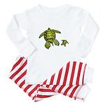 I Swim with Sea Turtles Baby Pajamas